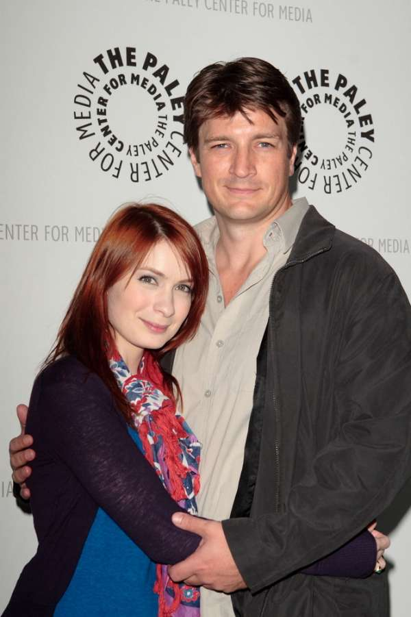 Felicia Day and Nathan Fillion